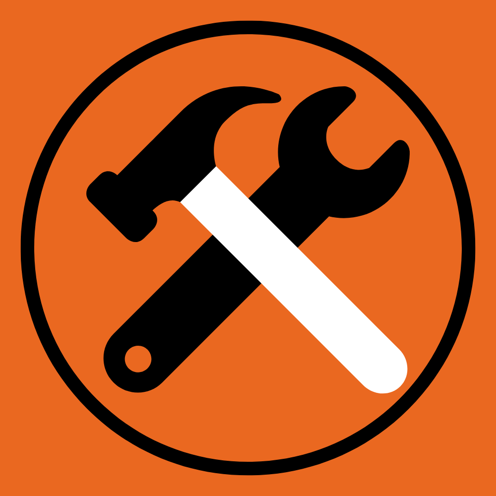 Under construction icon with a hammer and wrench.