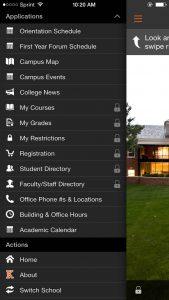Screenshot of Mobile App