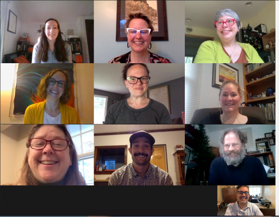 K College Librarians with a 3x3 camera view on a Microsoft Teams meeting.