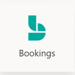 Microsoft Bookings logo.